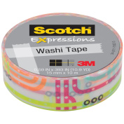 3M C314-P10 Washi Tape . 59 inch x 393 inch - 15mmx10m -Subway Map