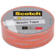 3M C314-P17 Washi Tape . 59 inch x 393 inch - 15mmx10m -Bubble Dots