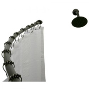 Kingston Brass CC3175 Adjustable Hotel Single Curved Shower Curtain Rod, Oil Rubbed Bronze