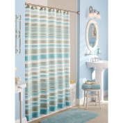 Better Homes and Gardens Classic Stripe Shower Curtain, Birch Grey
