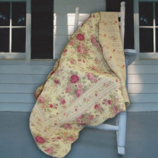 Greenland Home Fashions Antique Rose - 50W x 60L in. Quilted Throw