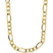 """Simply Gold Men's 10kt Yellow Gold 7.55mm Figaro Chain, 22"""""""