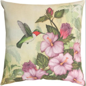46cm Happy Hummingbird Outdoor Patio Throw Pillow