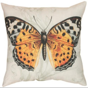 50cm Outdoor Deck and Patio I'll Fly Away Butterfly Square Throw Pillow