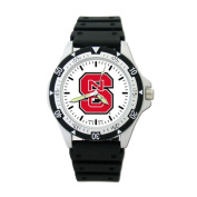 """NCAA - North Carolina State Wolfpack """"S"""" Option Sport Watch with Rubber Strap"""