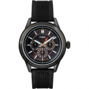 Timex Men's Ameritus Multifunction All Black Watch, Silicone Strap