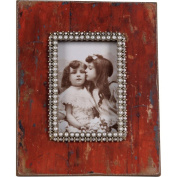 Wilco Red Photo Frame with Rhinestones, Red