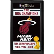 Miami Heat NBA Champions 2013 Framed 38cm x 70cm Logo Mirror