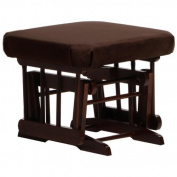 Dutailier D90-610-62-3095 Ultramotion Gliding Ottoman in Coffee and Chocolate