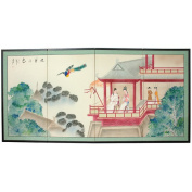 Oriental Furniture 11m Lovers View Silk Screen