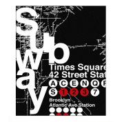 Subway Framed Art
