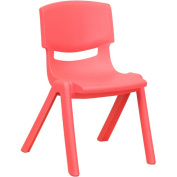 Flash Furniture Plastic Stackable School Chairs, 3.7m Seat Height, Red, Set of 4