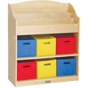 Guidecraft Book and Bin Storage, Natural