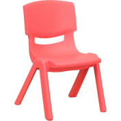 Flash Furniture Plastic Stackable School Chairs, 3.2m Seat Height, Red, Set of 4