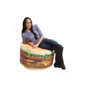 Wow Works Adult's Hamburger Bean Bag Chair