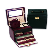 Budd Leather Ladies Classic Jewellery Box Travel Case