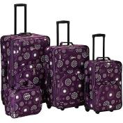 Rockland Luggage Impulse 4 Piece Expandable Luggage Set, Multiple Colours