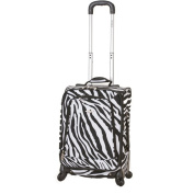 Rockland Luggage 50cm Spinner Carry-On Suitcase, Zebra
