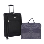 American Airlines 2-Piece Luggage Set, 70cm , Black