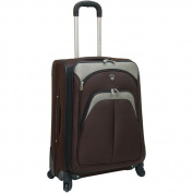 Travellers Club Expandable 4 Wheel Spinner Luggage, Mocha