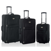 Travellers Club Genova 3 Piece Expandable Luggage Set
