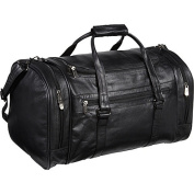 "AmeriLeather Leather 50cm . ""U"" Shaped Duffel"