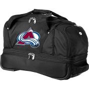 Denco Sports Luggage NHL Colorado Avalanche 60cm Drop Bottom Wheeled Duffel Bag