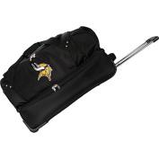 Denco Sports Luggage NFL Minnesota Vikings 70cm Drop Bottom Wheeled Duffel Bag