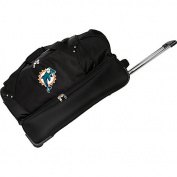 Denco Sports Luggage NFL Miami Dolphins 70cm Drop Bottom Wheeled Duffel Bag