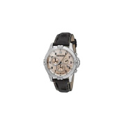 Wenger Squadron Chrono Watch, Copper Dial Brown Leather Strap