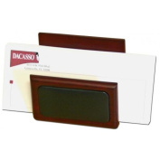 Dacasso A8008 Rosewood & Leather Letter Holder