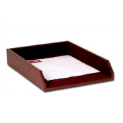 Dacasso A3405 Chocolate Brown Leather Letter Tray - Legal Size