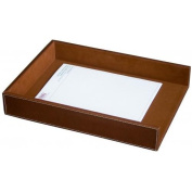 Dacasso A3205 Rustic Brown Leather Letter Tray - Legal Size