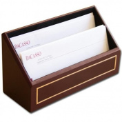 Dacasso A5608 24KT Gold Tooled Burgundy Leather Letter Holder