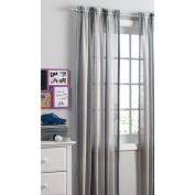 your zone crushed ombre long curtains, grey