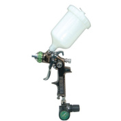 SPRAYIT HVLP Gravity Feed Spray Gun with Air Regulator