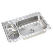 Elkay Dayton 10m x 0m x 10m x 0m Elite 3 Hole Double Bowl Kitchen Sink