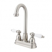 Kingston Brass Vintage 10cm Centerset Bar Faucet With Porcelain Lever Handle SN