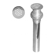 WestBrass D411-12 Polished Chrome Grid Strainer Lavatory Drain w/o Overflow Holes - Exposed