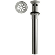 WestBrass D411A-1 Satin Nickel High-Flow Grid Lavatory Drain w/o Overflow Holes - Exposed
