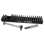 Vim Products MRBB36 Magnetic Bit Base with Ratchet and 36 Bits