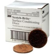 3M 7453 5.1cm Scotch Brite Surface Conditioning Discs Coarse Brown