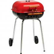 Meco Swinger Series 342 sq inch Square Charcoal Grill, Red/Black