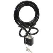 Sunlite Lock Cbl 8Mmx6F W/Pad-Key Coil Black