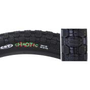 Sunlite Chaotic CST1382N BMX Tyre, 50cm x 5cm , Black/Black Skin