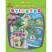 School Zone Sticker Workbook, Math Readiness, Grades P-K