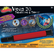 POOF-Slinky 0SA401BL Scientific Explorer Vega 30 Telescope with 30x Magnification and Metal Tabletop Tripod