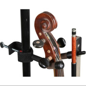 String Swing Mic Stand Violin Hanger with Bow Holder
