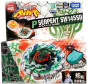 Takara Tomy Beyblades Japanese Metal Fusion Battle Top Starter #Bb69 Poison Serpent Sw145Sd Includes Light Launcher!