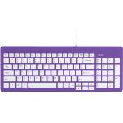 FileMate Imagine Series USB Standard Keyboard, Purple with White Keys